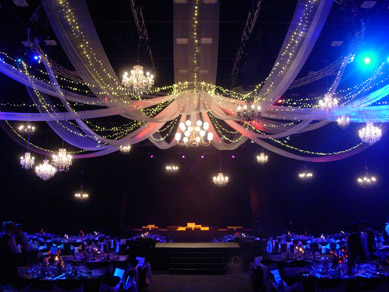 Adelaide Convention Centre Assorted Chandeliers, Draping & Fairy Lights