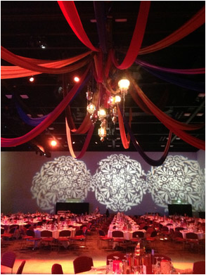 Adelaide Convention Centre Fabric Draping & Moroccan Lanterns 2