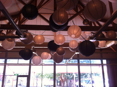 White Black & Silver Paper Lanterns