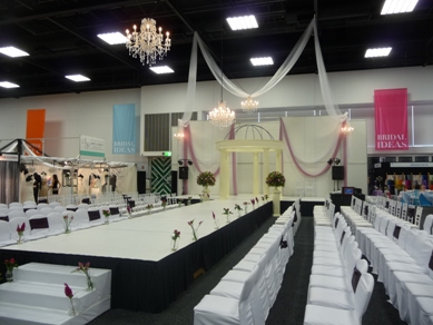 Adelaide Showgrounds Draping & Chandeliers