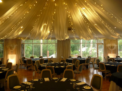 Belair Country Club Draping with Fairy Lights