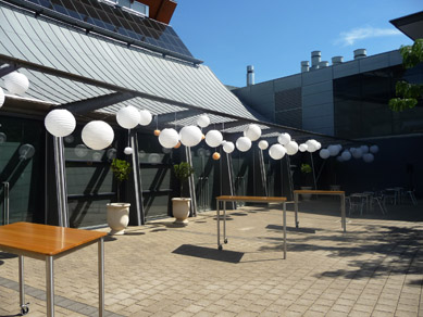 NWC Hickinbotham Room (Terrace) White Paper Lanterns