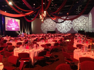 Adelaide Convention Centre Fabric Draping & Moroccan Lanterns