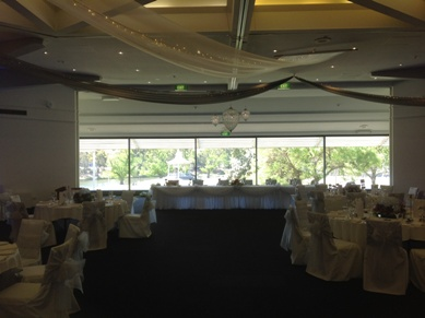 Adelaide Festival Centre Draping, Fairy Lights, and Chandelier Pendants