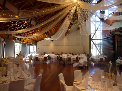NWC Hickinbotham Room Draping, Fairy Lights & Large Bud Light Ball 2