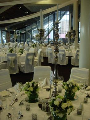 Adelaide Oval Silver Candelabra & Taper Candles