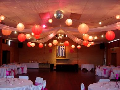 White, Orange & Red Paper Lanterns