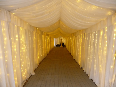 Marquee Entrance - After with Fairy Lights