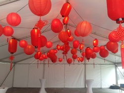 Red Chinese and Paper Lanterns