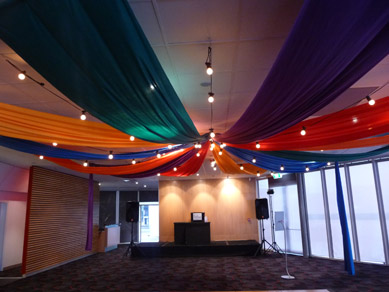 Adelaide Entertainment Centre Fabric Draping & Festoons 2