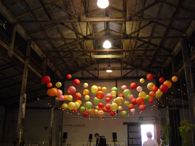 Queens Theatre Coloured Paper Lanterns & Festoons