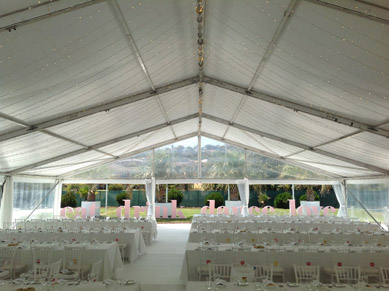 Marquee - Before with Fairy Lights