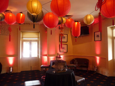 Royal Hotel Assorted Lanterns, Wood Cut Panels & Uplights 2