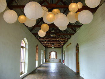 Chateau Tanunda Long Room White and Gold Paper Lanterns