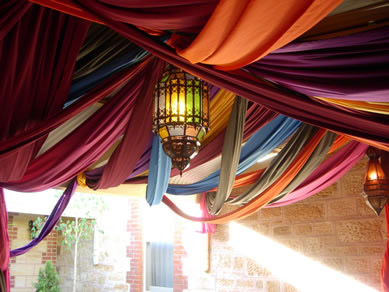 Draping with Moroccan Lanterns
