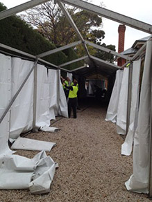 Marquee entrance - Before