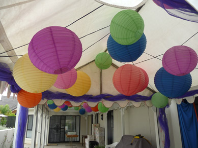 Assorted Coloured Paper Lanterns