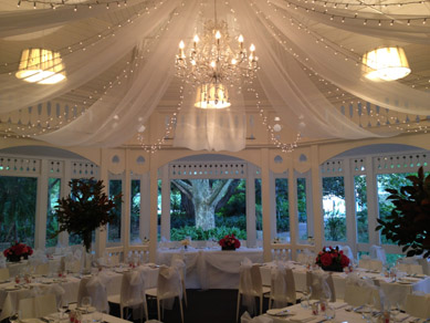 Botanic Gardens Restaurant Draping with FL & Chandelier (Large)