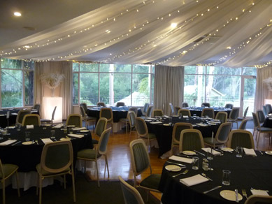 Belair Country Club Draping with Fairy Lights 2