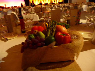 Adelaide Convention Centre Fruit & Vegetable Table Centres