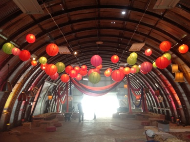 PP Air Hanger South - Lanterns and Drapes - After