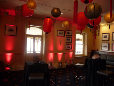 Royal Hotel Assorted Lanterns, Wood Cut Panels & Uplights