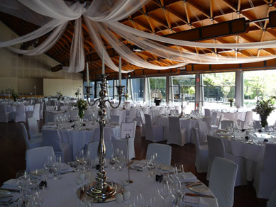 NWC Hickinbotham Room Draping & Candelabra