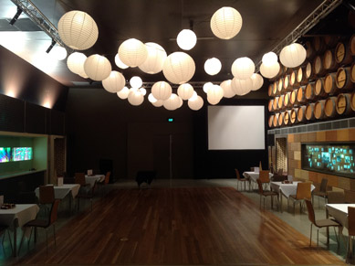 NEC Ex Hall - After with White Paper Lanterns