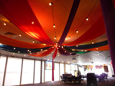 Adelaide Entertainment Centre Fabric Draping & Festoons