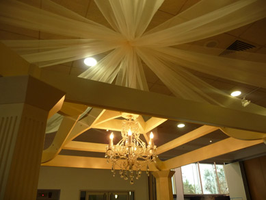 Ridley Pavilion Draping & Chandelier