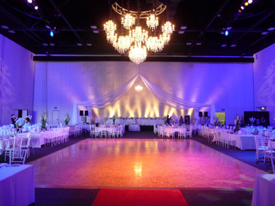 ACC - Draping  with Chandeliers cluster