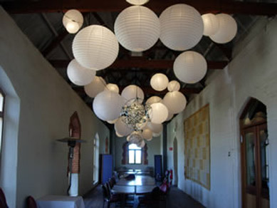 Chateau Tanunda Long Room White Paper Lanterns