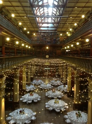 Mortlock Library Fairy Light Ceiling From Above