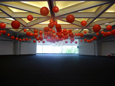 AFC Banquet Room Red & White Lanterns