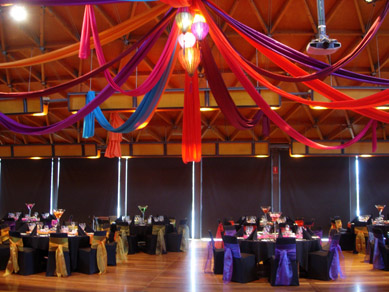 NWC Hickinbotham Room Draping & Vietnamese Lanterns