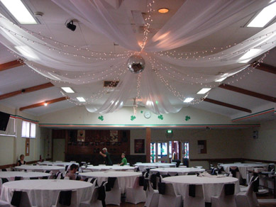 The Irish Club - After with Draping & Fairy Lights