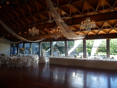 NWC Hickinbotham Room Draping & Chandeliers 2