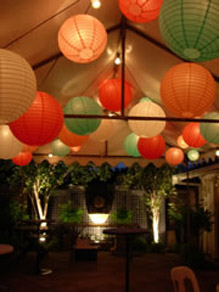 Green, Red, Pink & Orange Paper Lanterns