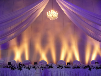 ACC - Draping  with Chandelier close up