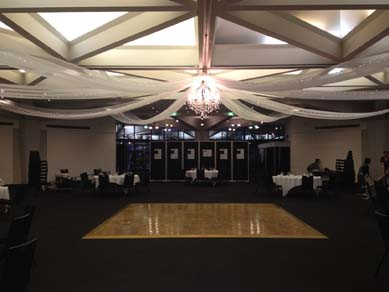 Adelaide Festival Centre Banquet Room Chandelier & Draping