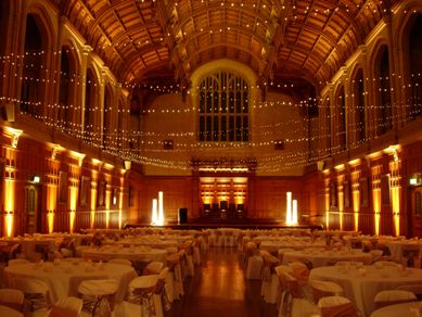 Bonython Hall Fairy Lights & Light Columns