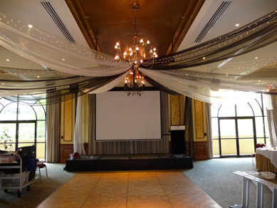 Sebel Playford Draping, Fairy Lights & Chandeliers