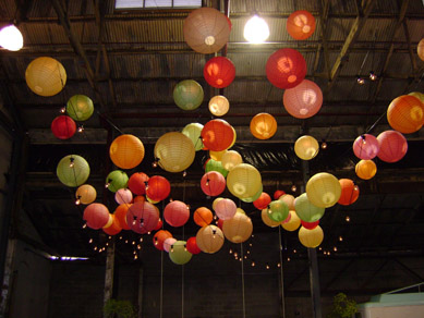 Queens Theatre Coloured Paper Lanterns & Festoons 2