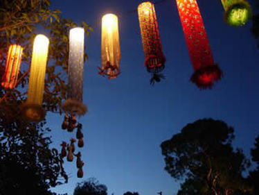 Womadelaide Material Lanterns