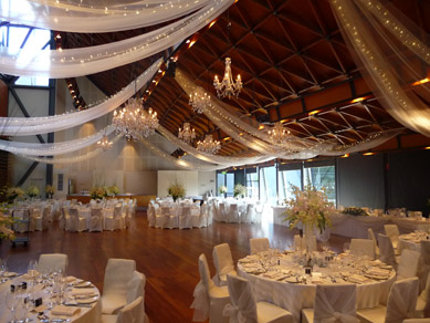 NWC Hickinbotham Room Draping, Fairy Lights & Chandeliers 2