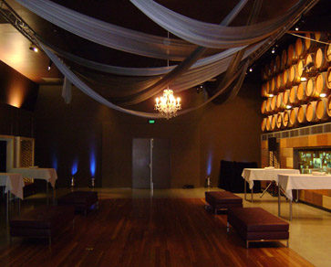 NWC Exhibition Hall Draping & Chandelier