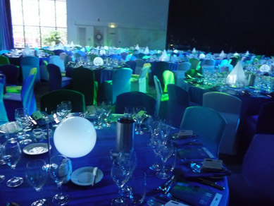 Adelaide Convention Centre Illuminated Table Centres