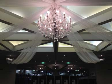 AFC Banquet Room Extra Large Clear Crystal Chandelier
