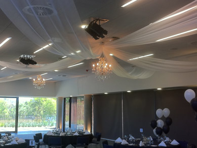 Zoo Sanctuary Drape with Chandeliers 2