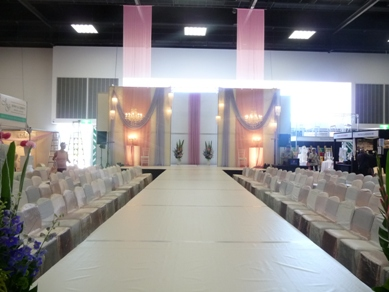 Adelaide Showgrounds Fabric Draping with Chandeliers & Assorted Pendants